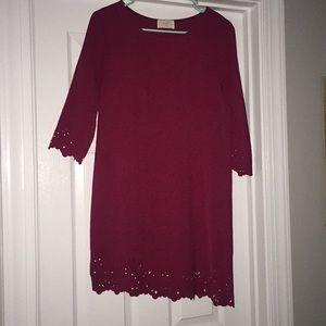 Maroon detailed dress!!!